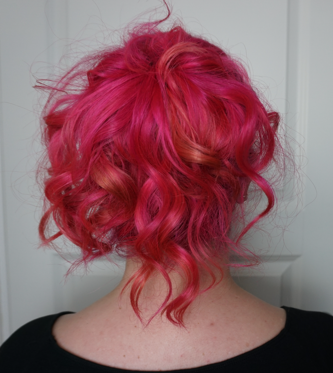 Hot Hot Pink And A Bit Of Orange My New Hair Color